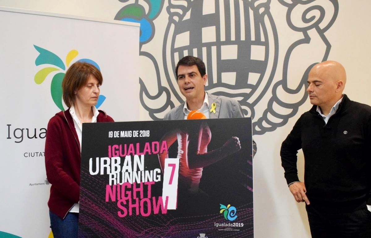 Rosa Plassa, Marc Castells i Ramon Prat, a l'Ajuntament