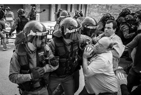 L'acció violenta de la Guardia Civil a Sesgueioles FOTO:  Stan De Zoysa