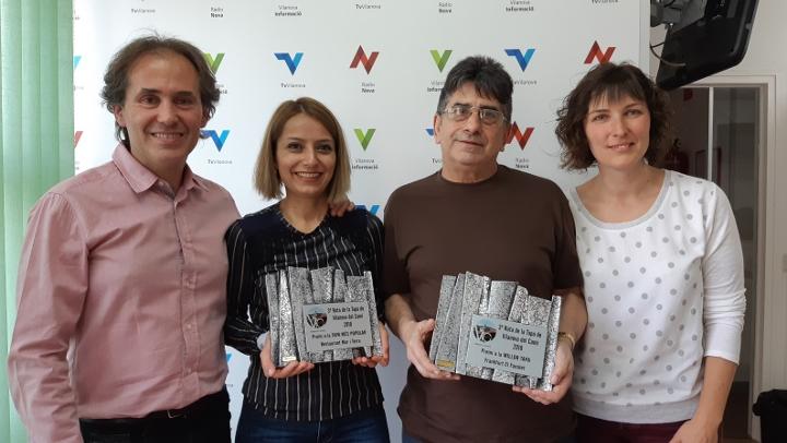 Els guanyadors, en el seu pas per Ràdio Nova