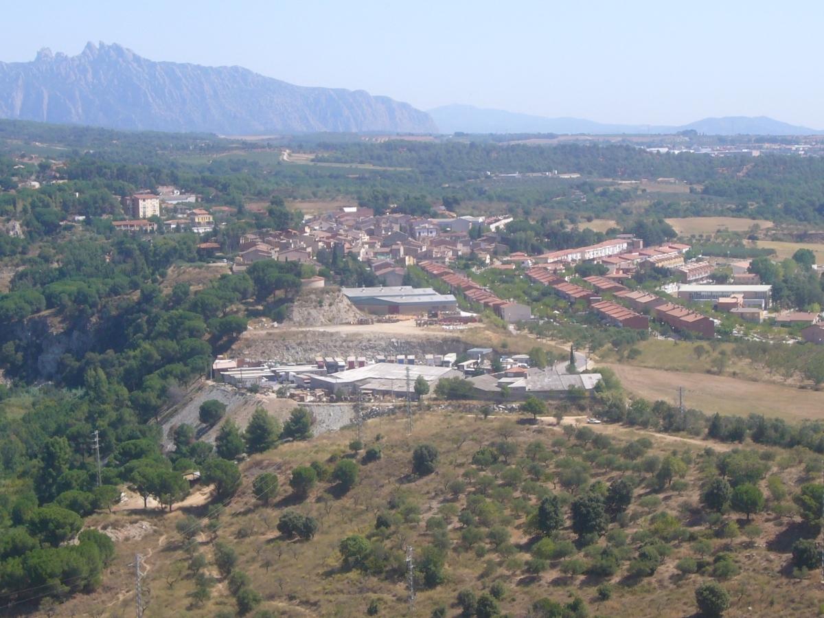 Vista de Vallbona d'Anoia des del castell de Cabrera
