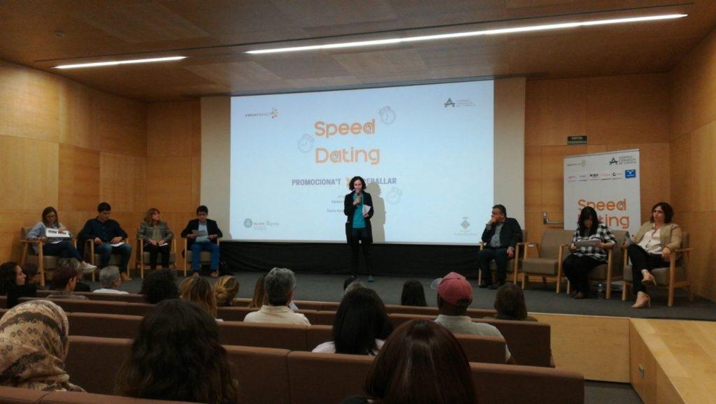 Una sessió de 'speed dating' del Consell Comarcal, a Mont-Àgora