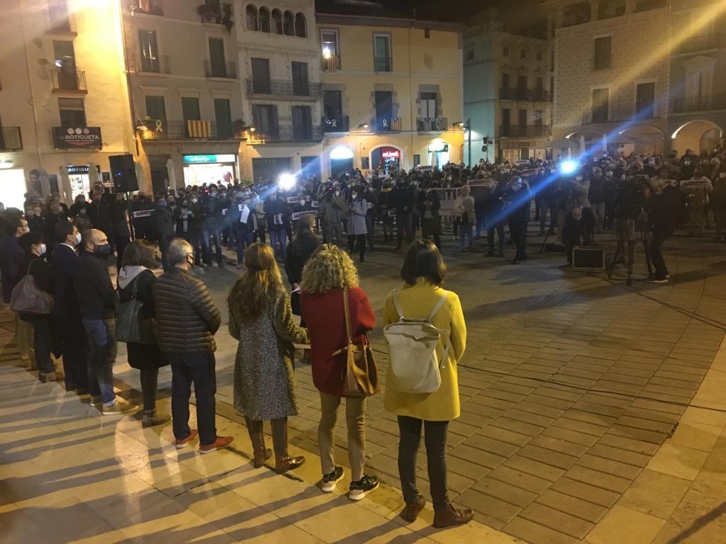 Concentració a la plaça de l'Ajuntament d'Igualada (Foto: TCM)