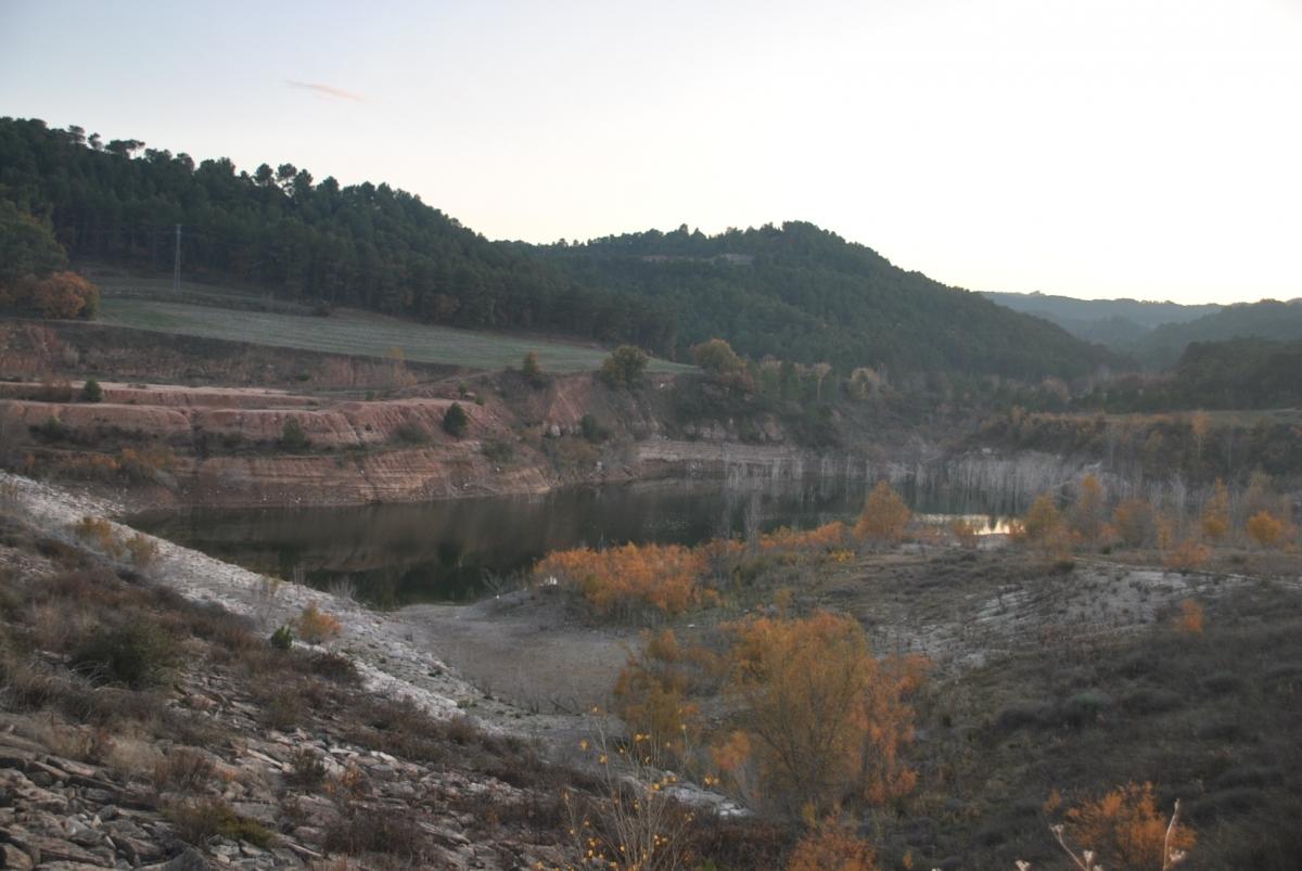 L'aspecte de la presa, a finals de novembre