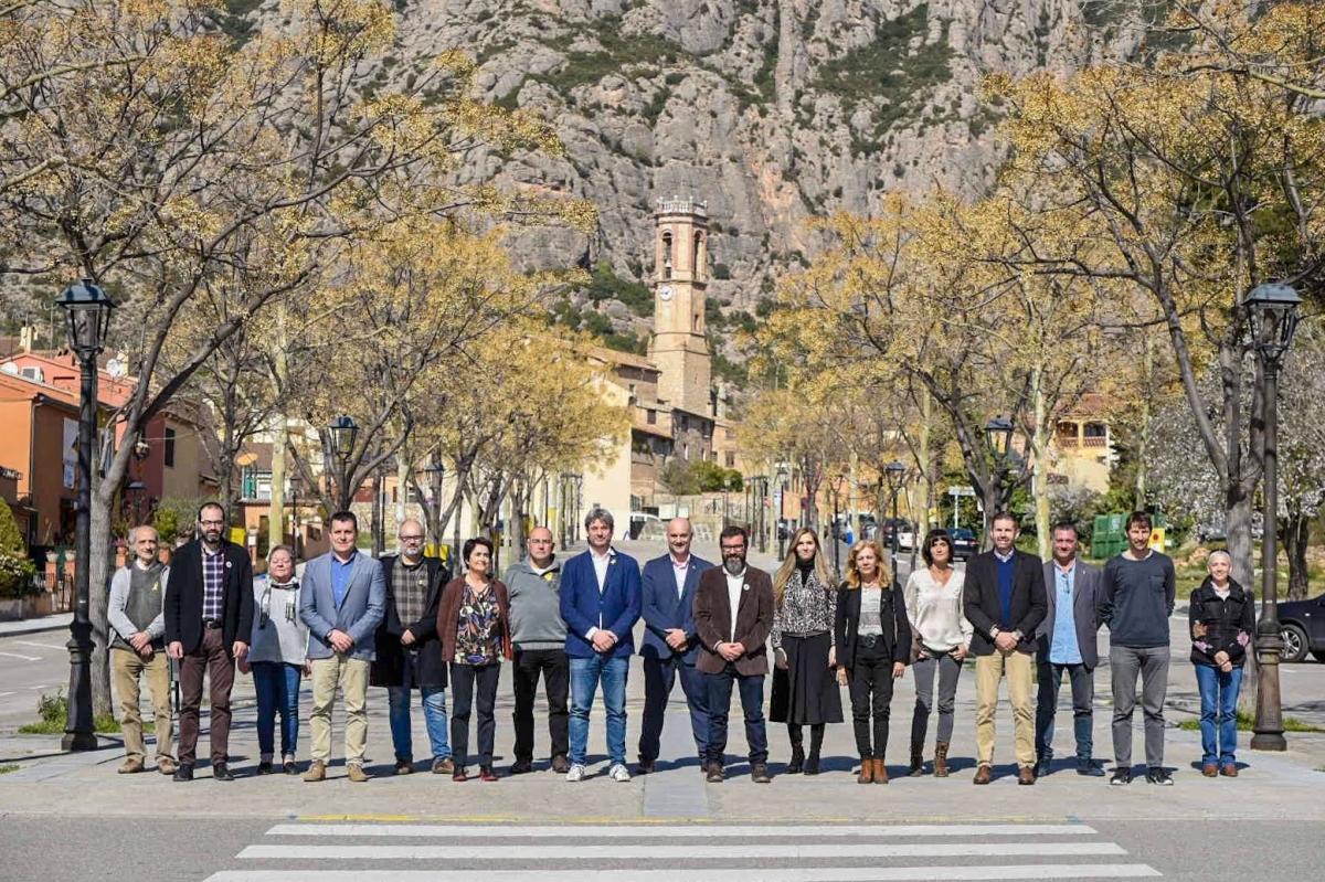 Els alcaldes, reunits a Collbató