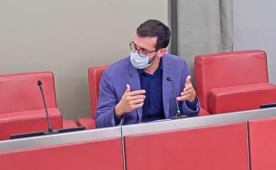 El portaveu Jordi Cuadras, en el darrer ple