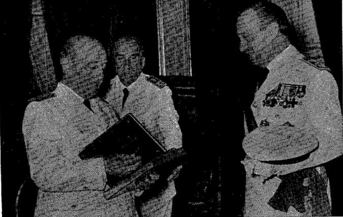 Entrega de la biografia del general Vives a Franco (Diari d'Igualada, 18 de gener de 1958)