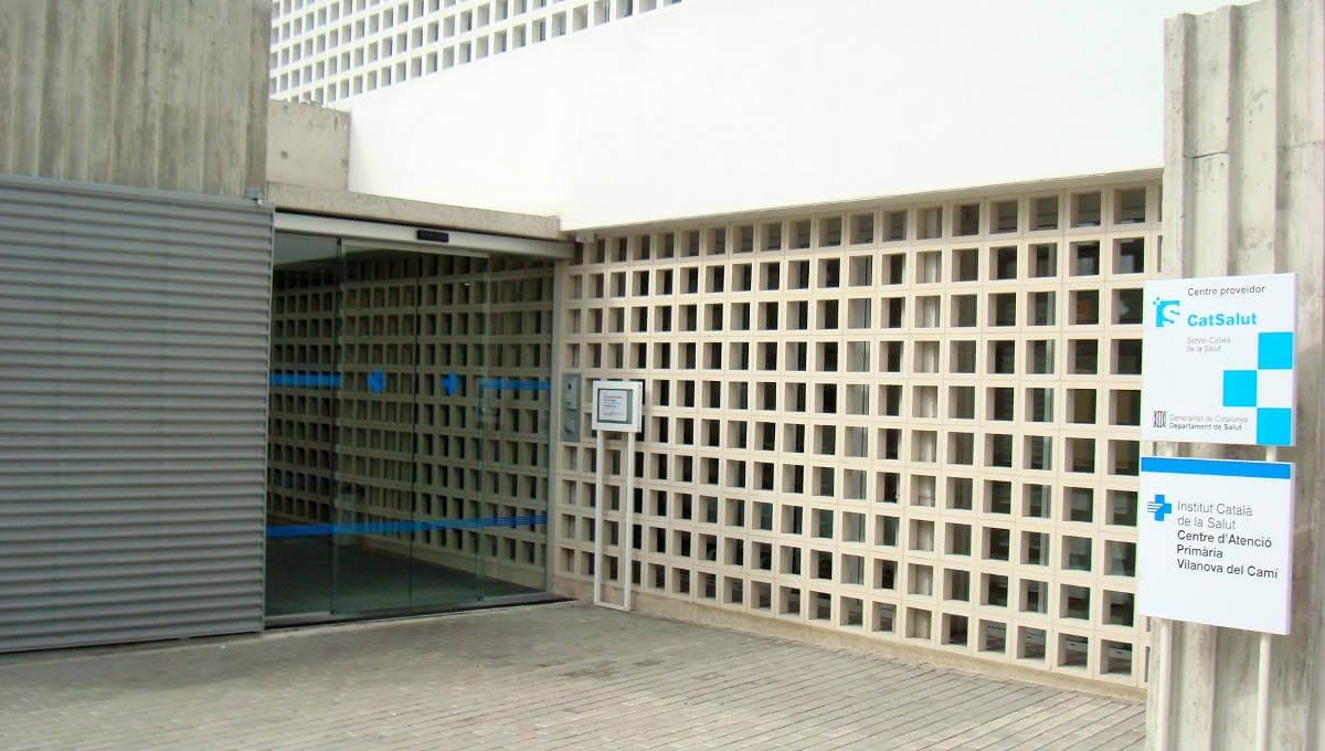L'entrada al CAP de Vilanova