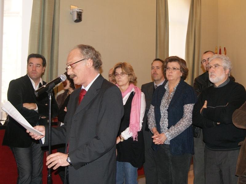 Jordi Aymamí, en el seu discurs de Nadal