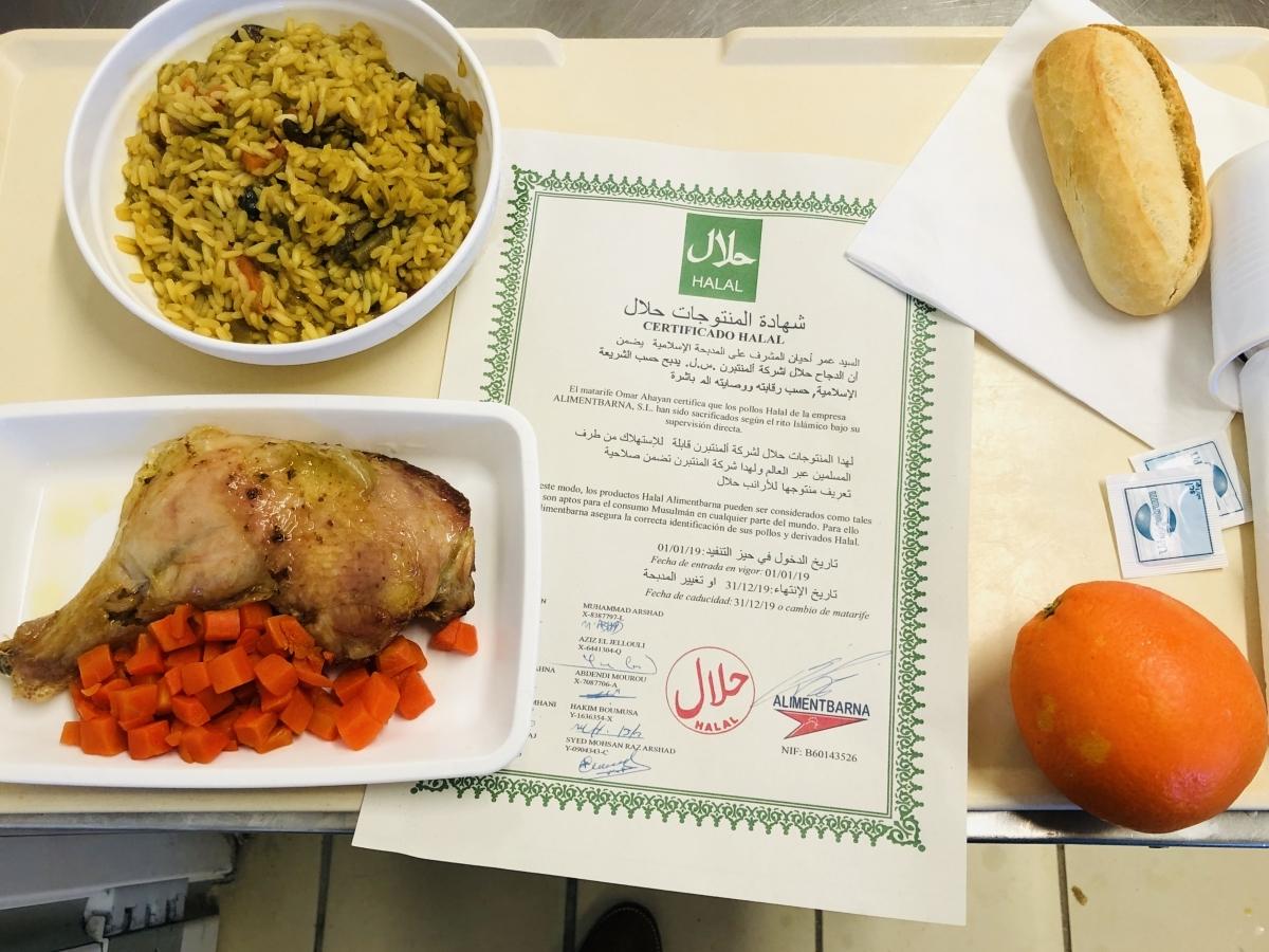 Els menús inclouran carn sacrificada seguint els principis musulmans