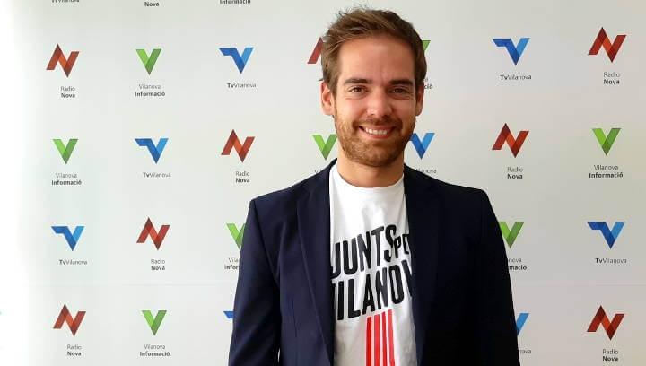 El portaveu vilanoví de Junts, Jordi Barón