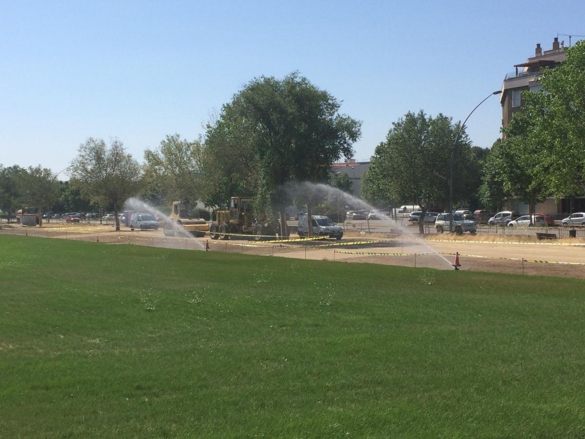 La gespa del Parc Central, a punt per l'EBF