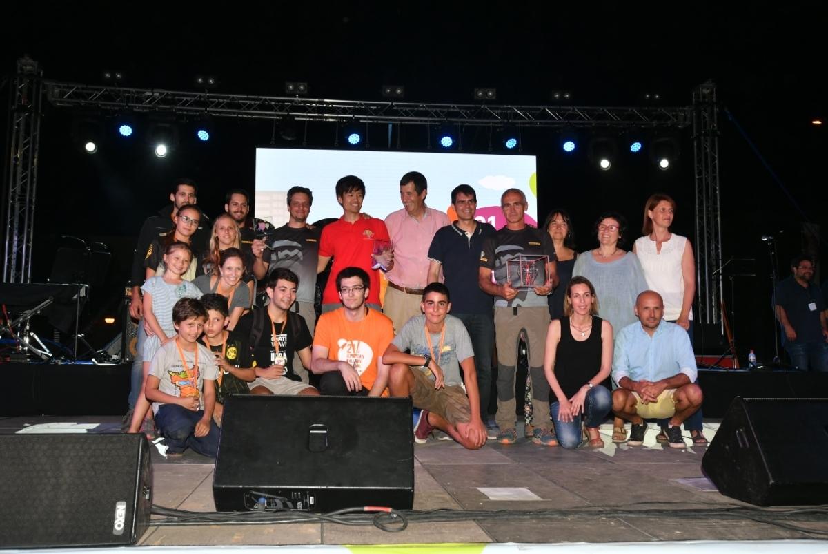 Foto de família dels premiats de l'edició d'enguany.