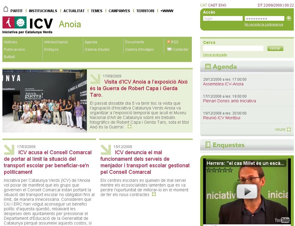 Web d'ICV Anoia