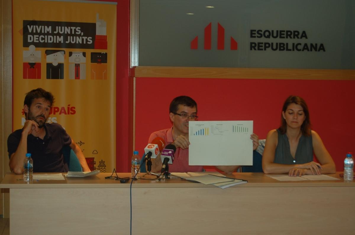 Conill, Palau i Telechea, a la seu d'ERC