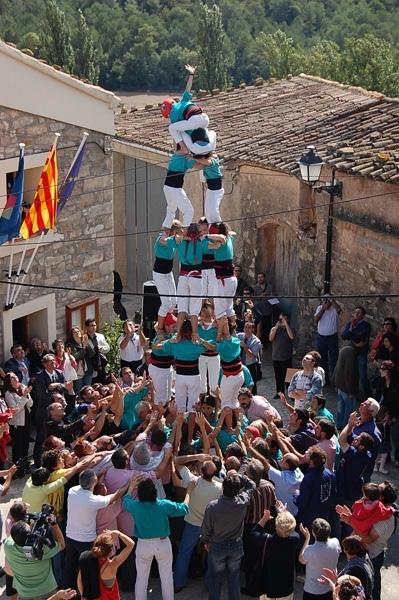 Una de les exhibicions anteriors, amb els castellers de Vilafranca
