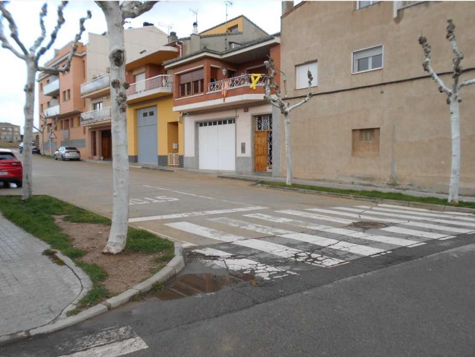 El pas de vianants del carrer Pius Forn