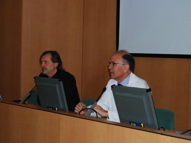 El Gerent del CSA, Dr. Ferran Garcia i el Dr. Xavier Feliu, Cap del Servei de Cirurgia i especialitats quirúrgica.