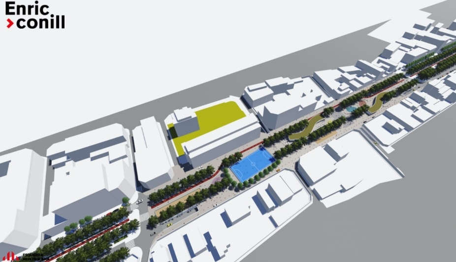 Imatge virtual de la proposta d'ERC