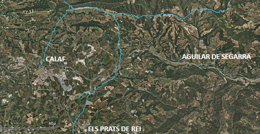 Mapa facilitat per l'ACA sobre l'abastament d'aquests pobles