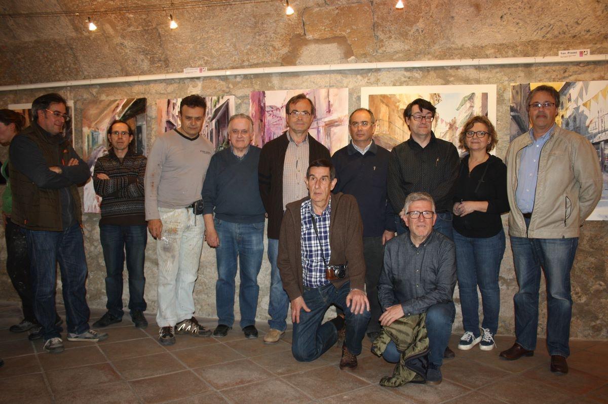 El tinent d'alcalde Soteras, tercer a la dreta, amb alguns dels participants