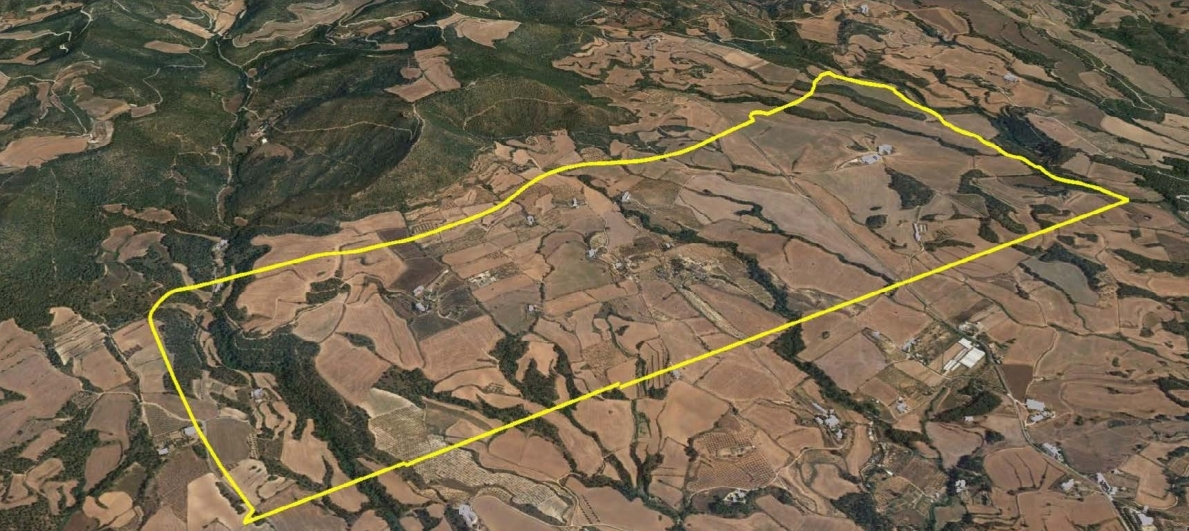 La parcel·la que es volia industrialitzar a Can Morera