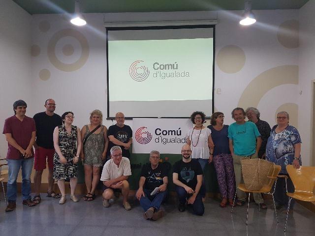 Una reunió de la confluència, a l'Espai Cívic Centre