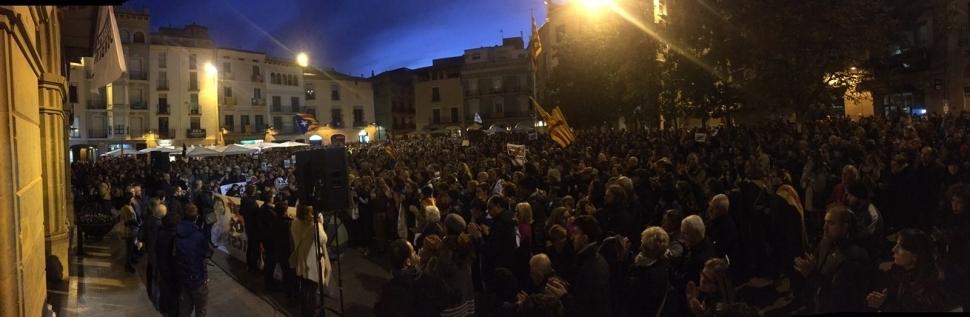 Una de les mobilitzacions a Igualada en favor d'alliberar els presoners