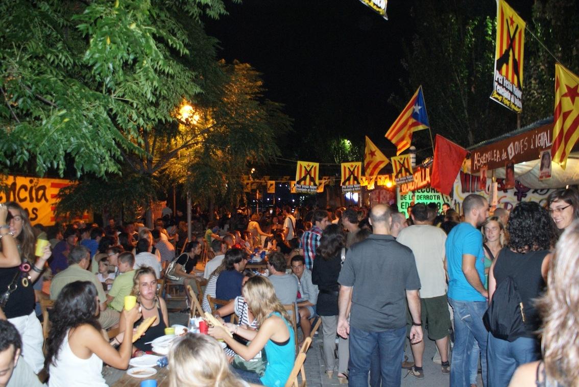 L'espai de barraques de la Festa Major 2010