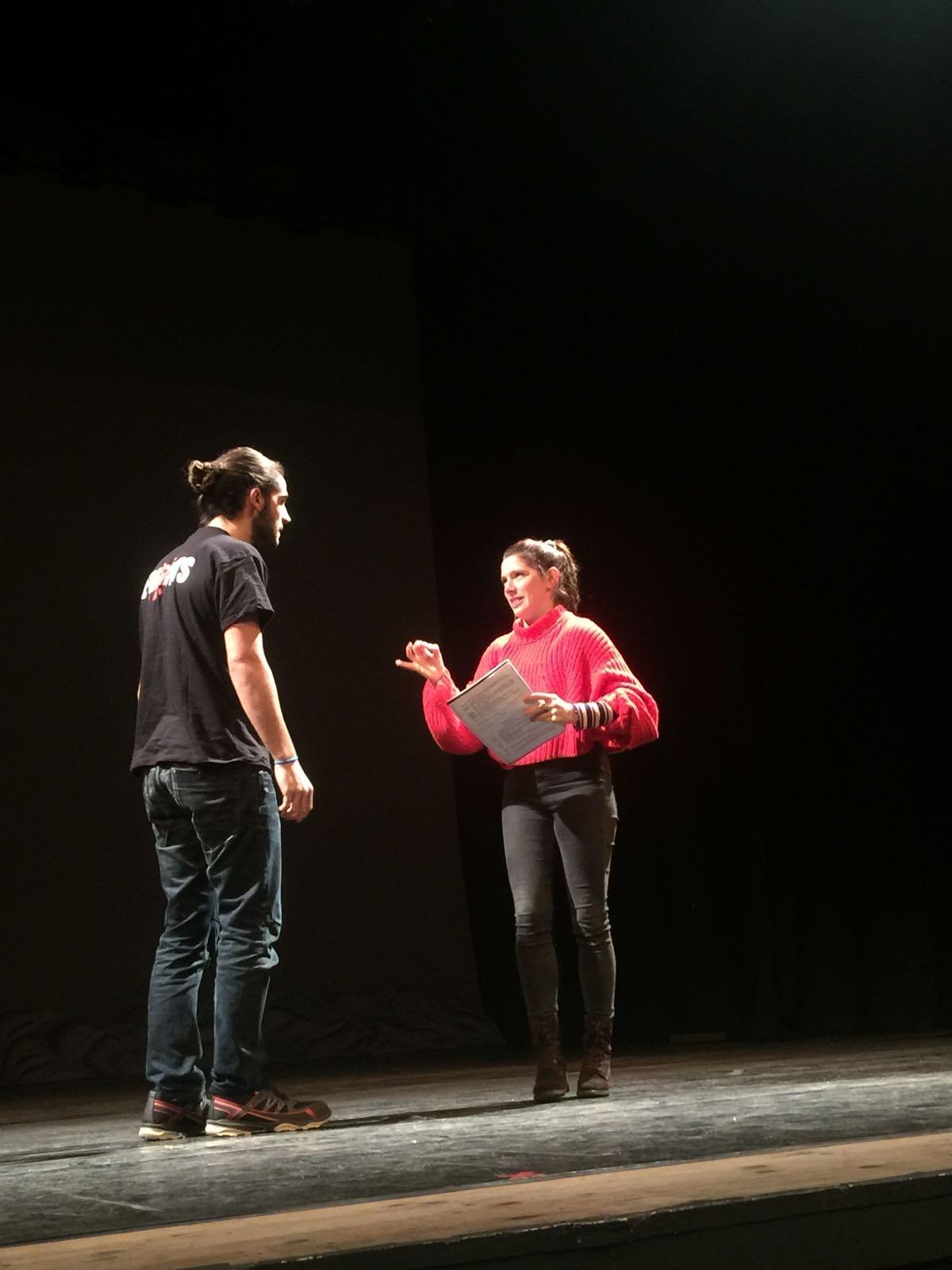 Diana Gómez, en un dels assajos