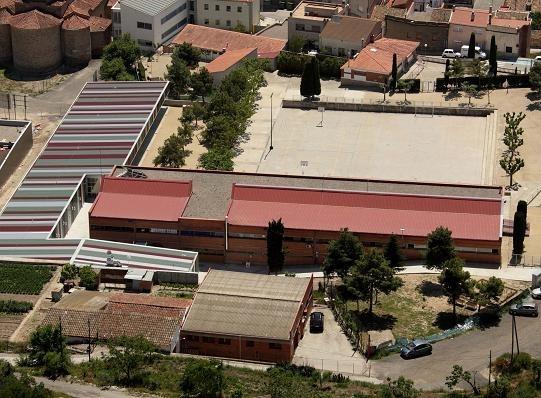 Vista aèria de l'escola Castell d'Òdena