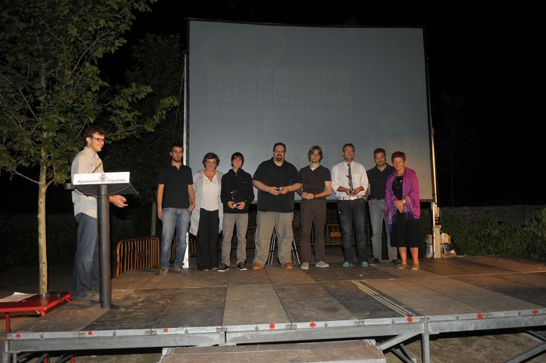 Els premiats sobre l'escenari