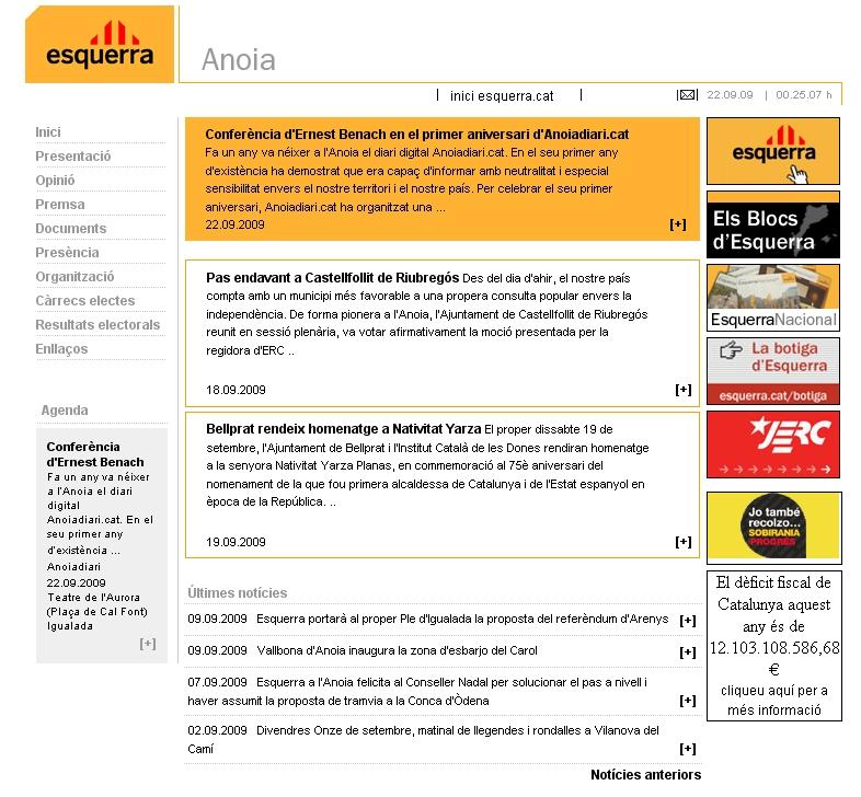 Web actual d'ERC Anoia