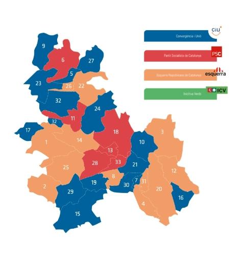 Mapa de l'Anoia al 2007