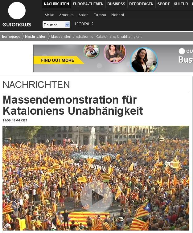 Portal digital de l'edició alemanya de l'Euronews