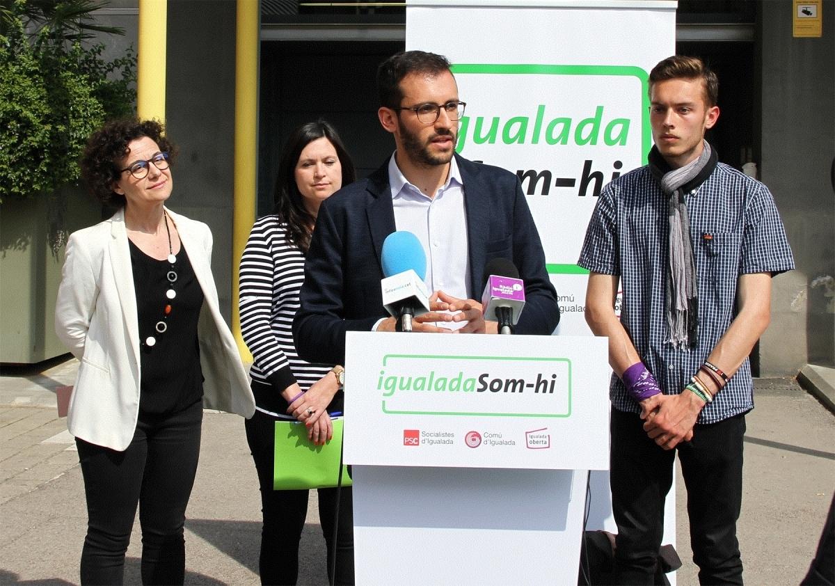 Part de l'equip d'Igualada Som-hi, durant la campanya