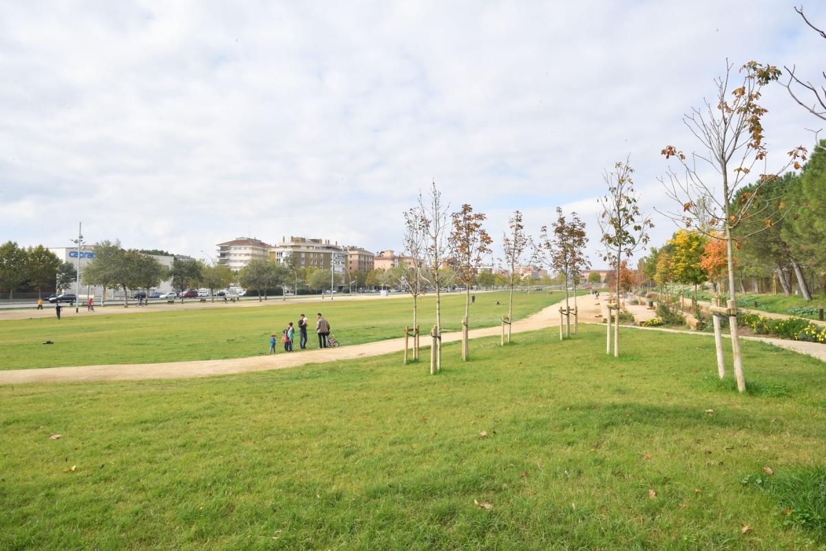El Parc Central d'Igualada, a l'Avinguda Catalunya