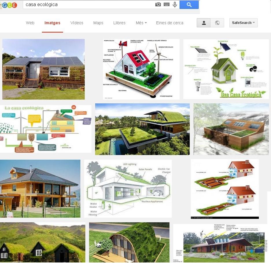 """Cerca de """"casa ecològica"""" a Google el dia 23 de Març de 2015"""