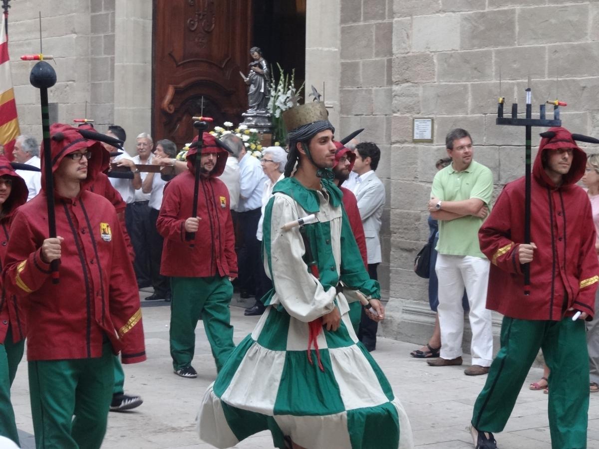 El Ball, a la sortida de la Basílica de Santa Maria