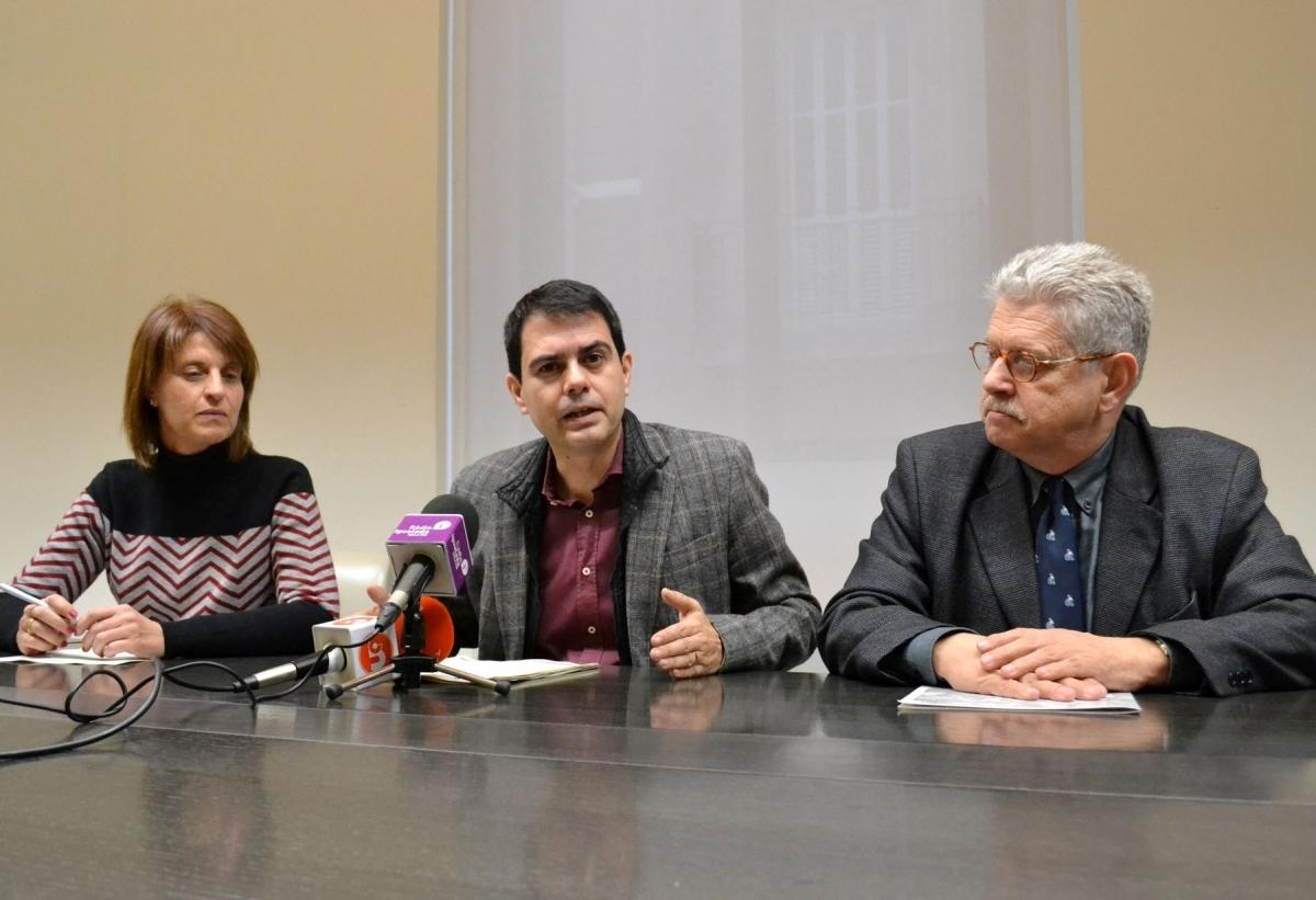 Rosa Plassa, Marc Castells i Rubén Peris, en la presentació de l'etapa