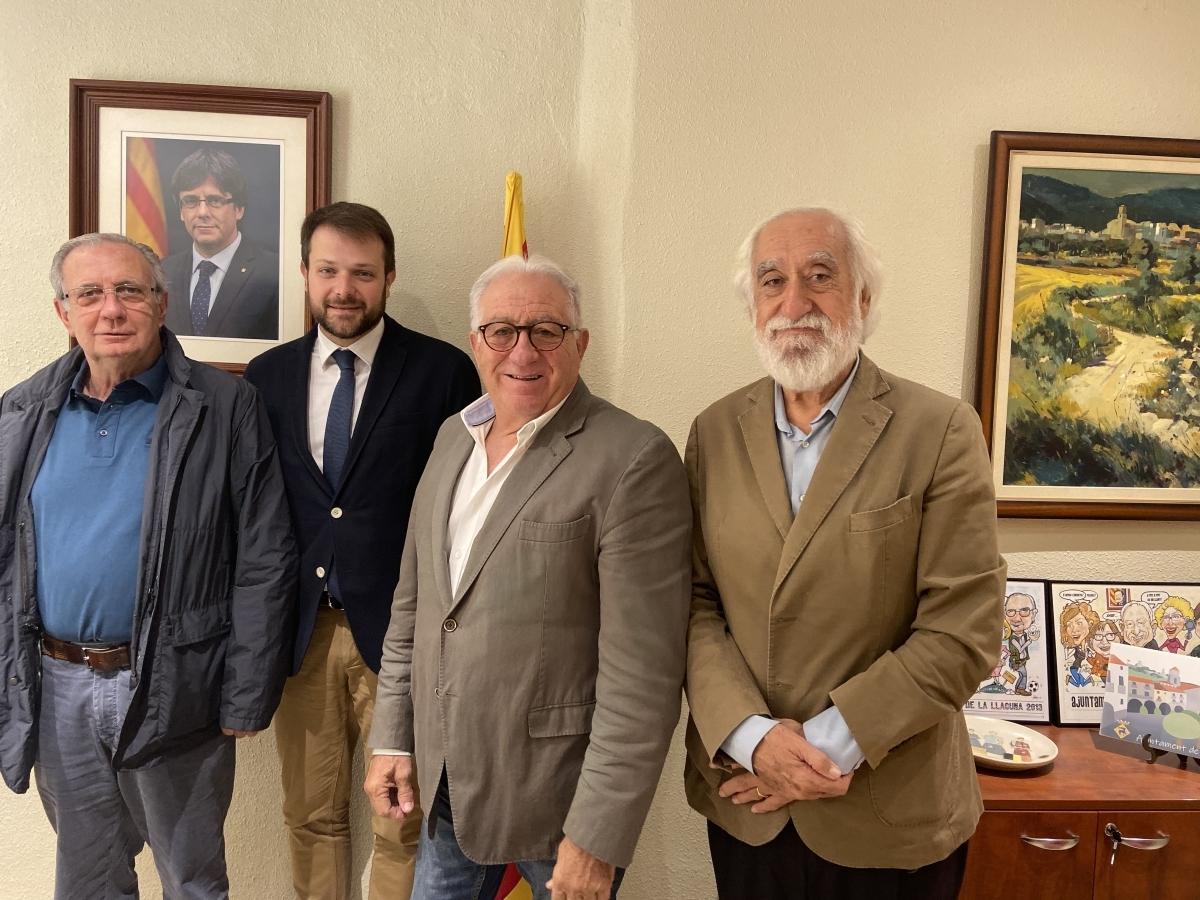 L'alcalde Parera, al centre, amb Gerard Figueras a l'esquerra
