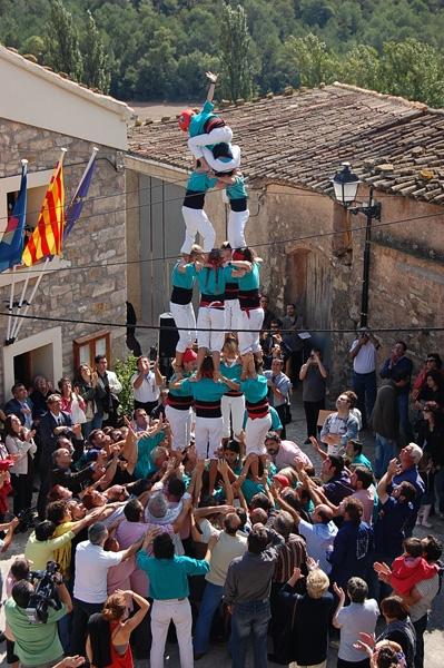 Castellers de Vilafranca, en l'homenatge del 2009