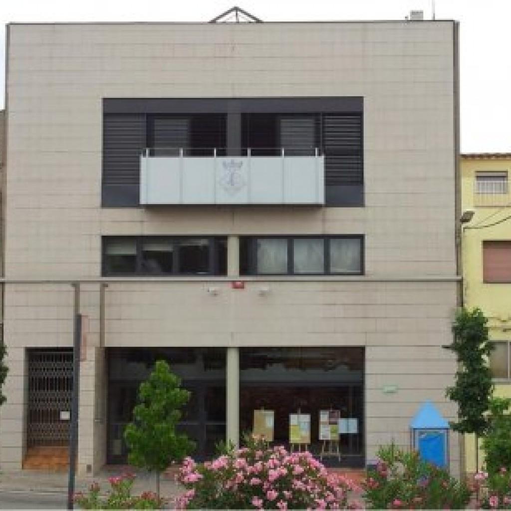 Façana de l'Ajuntament de Vallbona d'Anoia