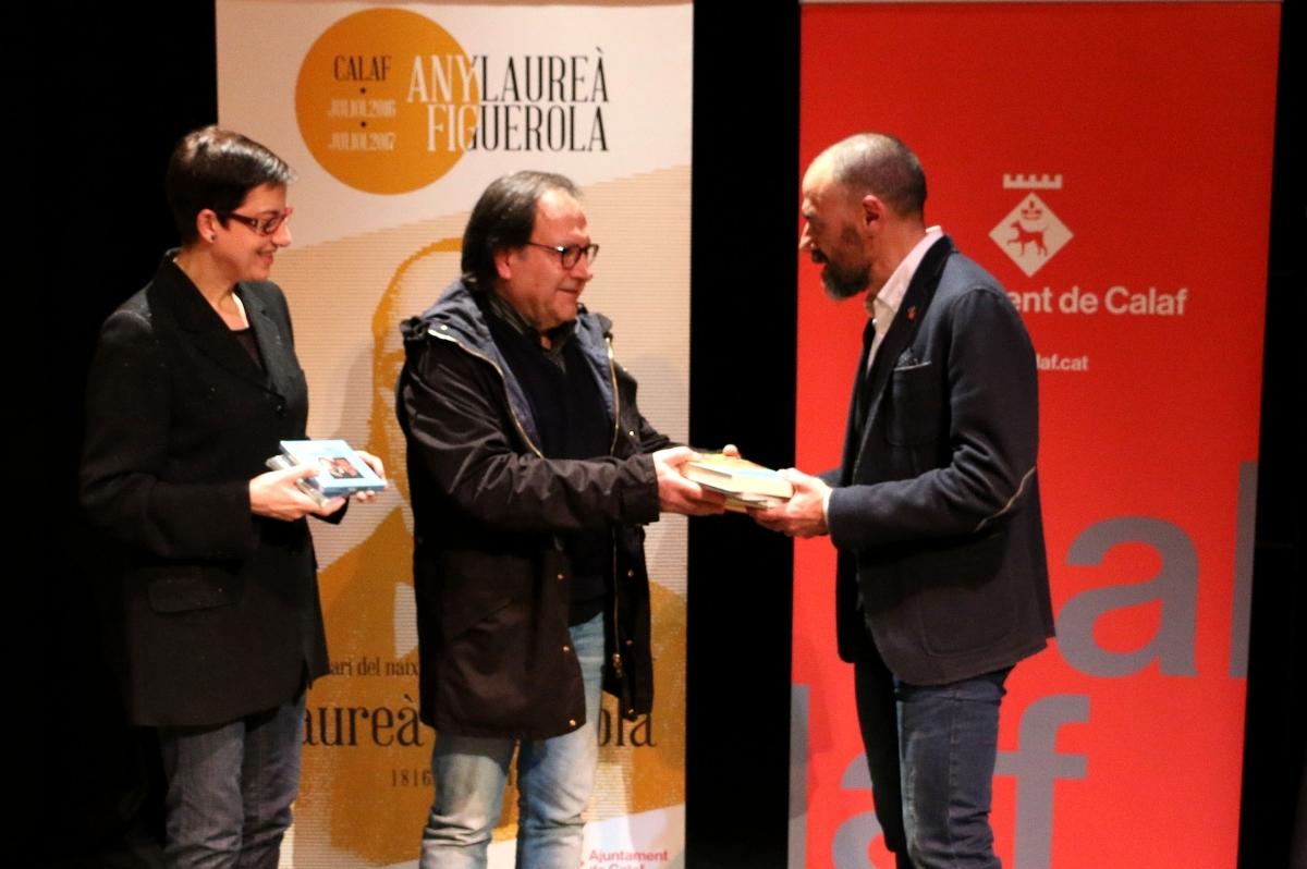 Lloll Bertran, amb Celdoni Fonoll i Jordi Badia