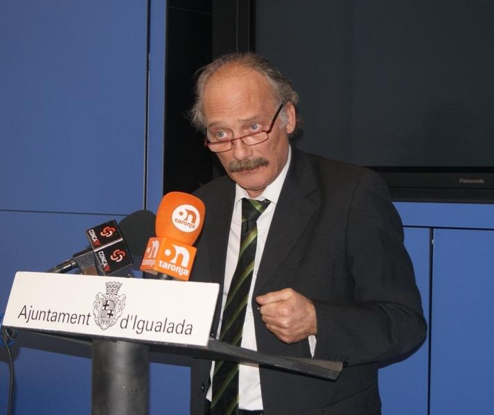 L'alcalde igualadí, Jordi Aymamí