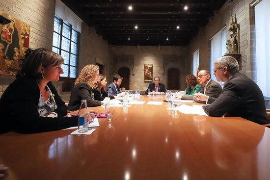 Vergés, reunida amb el president Torra i altres consellers FOTO: ACNN