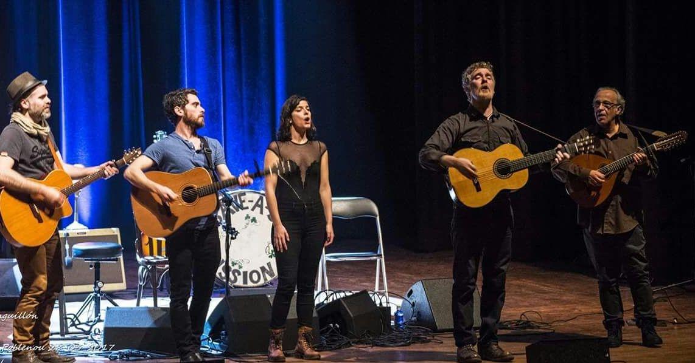 Quico Tretze, esquerra, en el concert amb Hansard, segon a la dreta FOTO: E. Minguillón