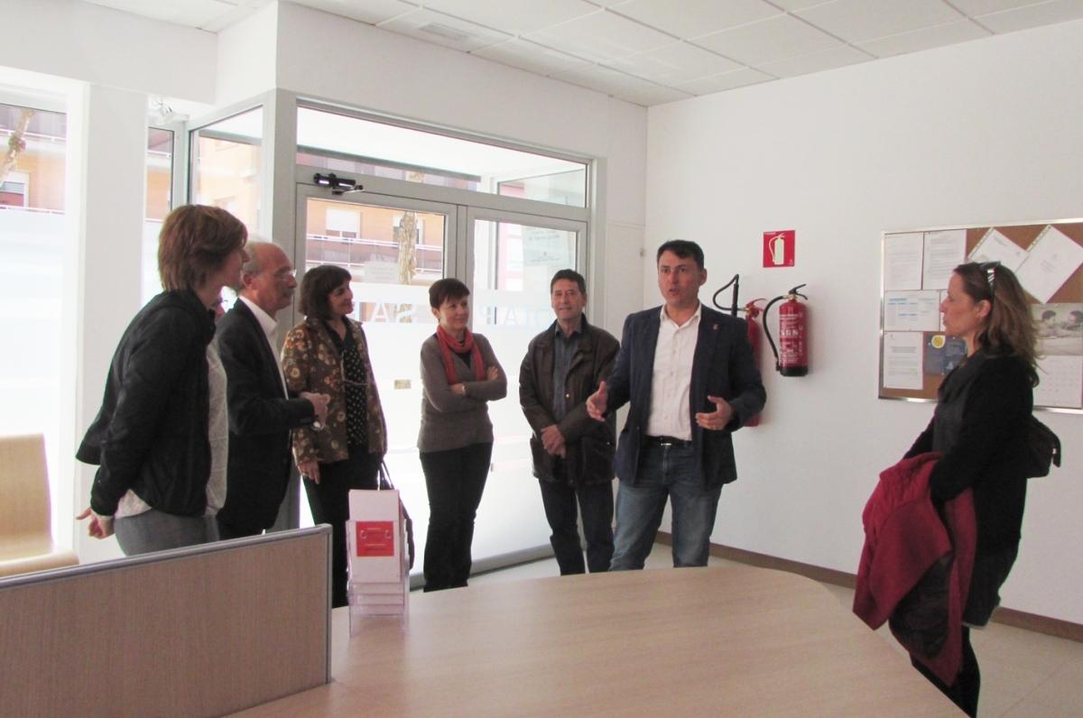 Una imatge de la visita al centre, el passat divendres