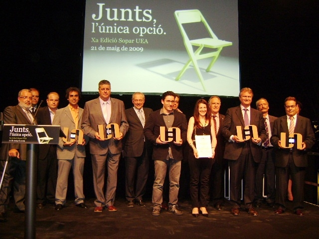 Els premiats d'aquesta edició dels Premis UEA