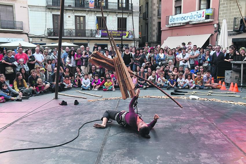 Espectacle de l'any passat als carrers de Manresa (Foto: Anna Brugués)