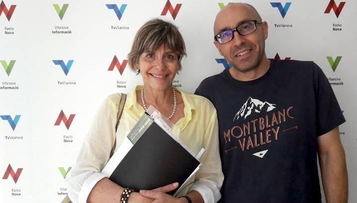 La professora Marta Bartrolí i el director Pep Martí